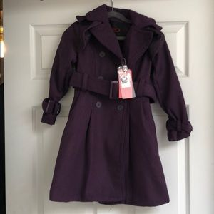 Girls Yoki Purple Trenchcoat